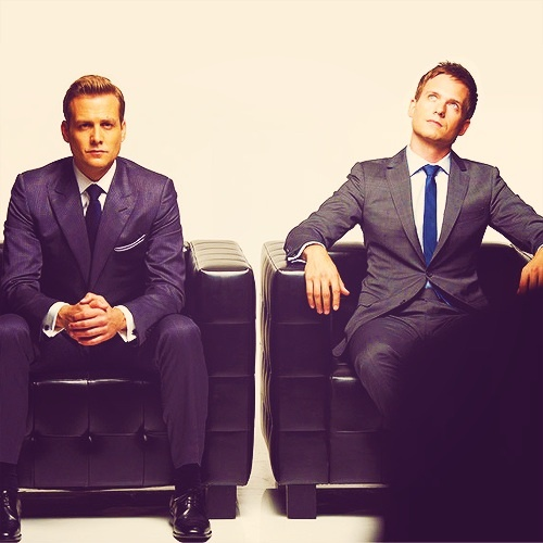 Harvey Specter and Mike Ross from Suits.
